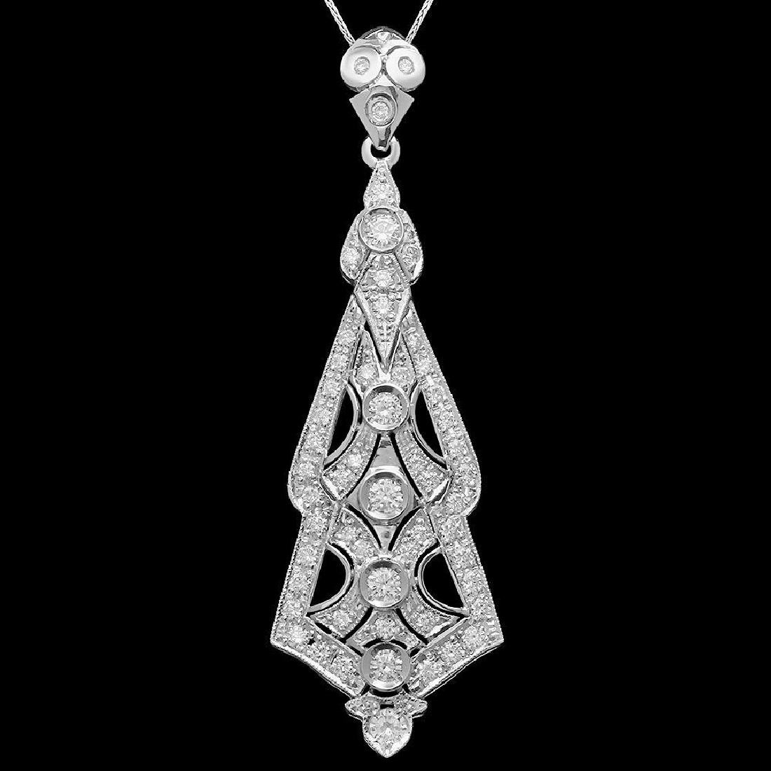 14K Gold 2.65ct Diamond Pendant