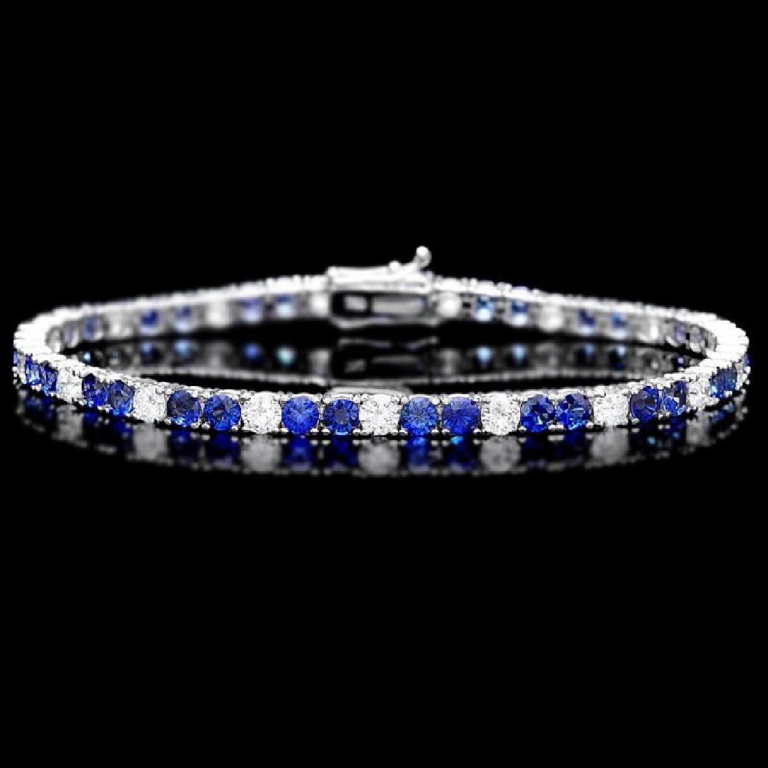18k Gold 6ct Sapphire 2.70ct Diamond Bracelet
