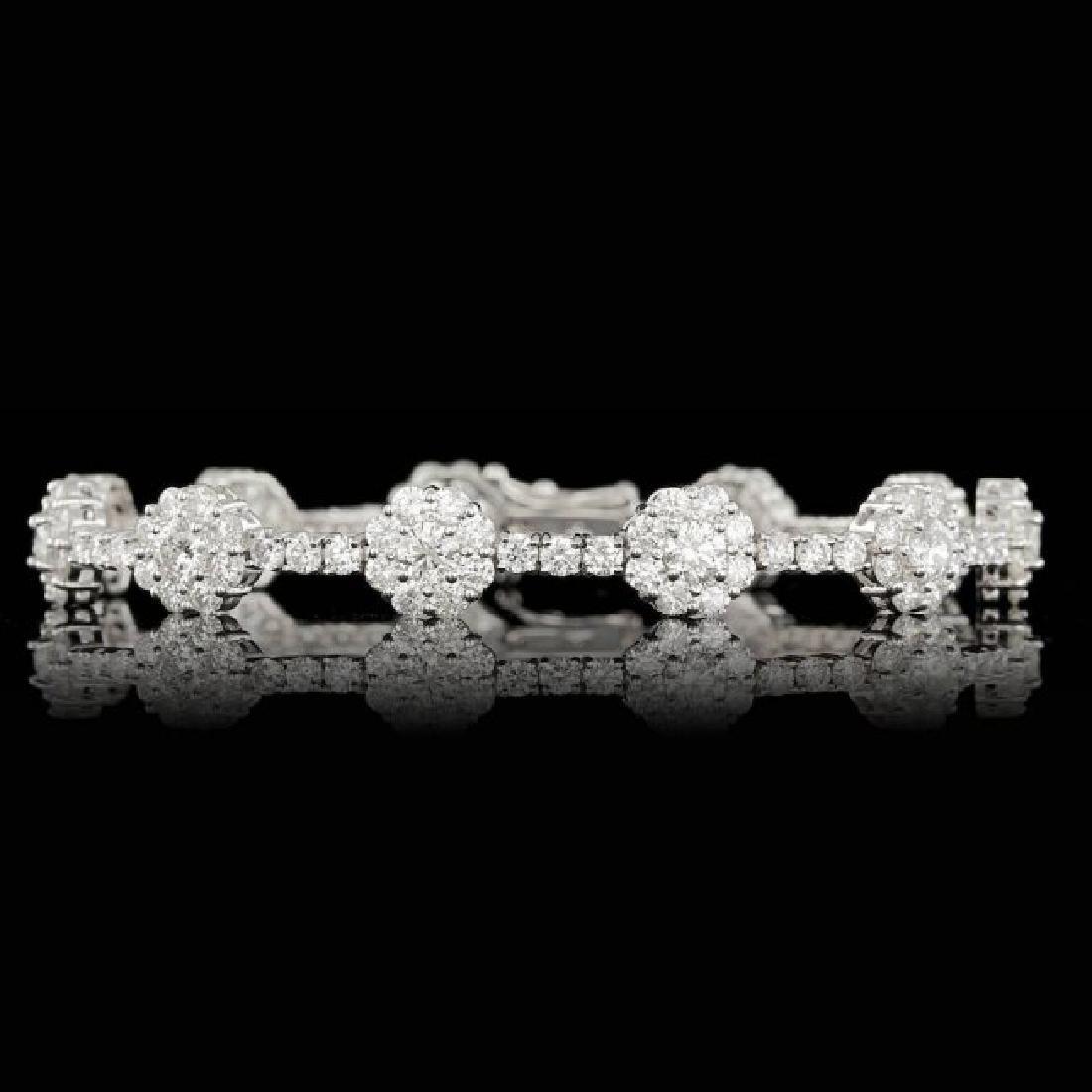 18k White Gold 9.50ct Diamond Bracelet