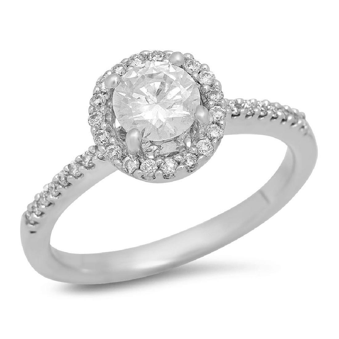 14K Gold 0.52ct Center Diamond 0.72cts Diamond Ring
