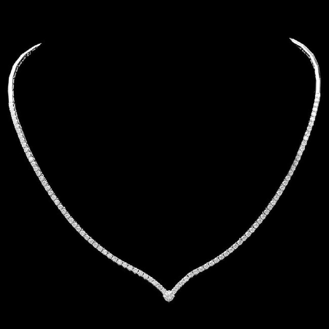 18k White Gold 3.50ct Diamond Necklace