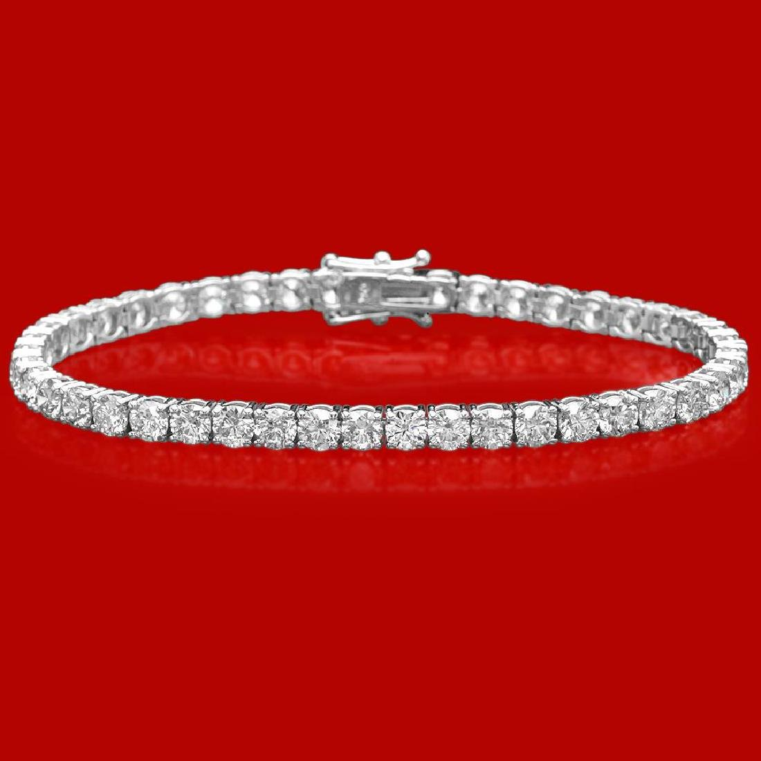 18k Gold 10.75ct Diamond Bracelet
