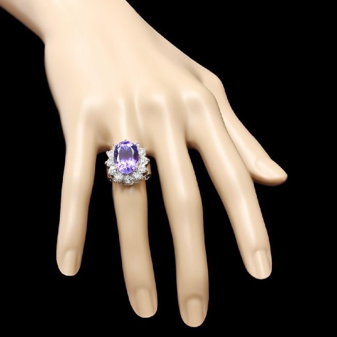 14k Gold 11.50ct Tanzanite 2.10ct Diamond Ring - 3