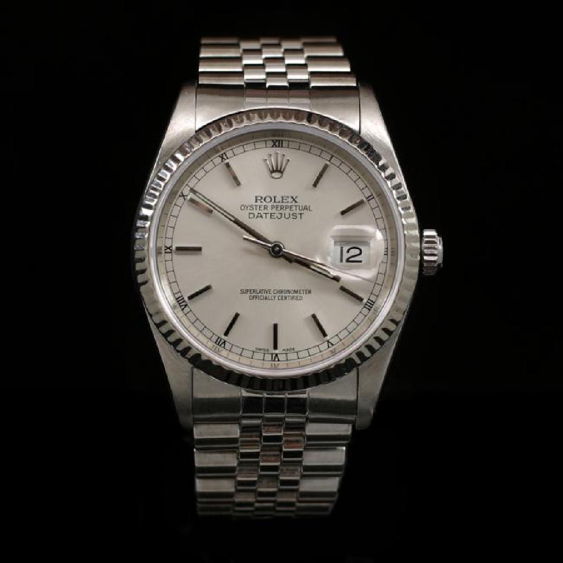 Rolex DateJust SS 36mm Men's Wristwatch