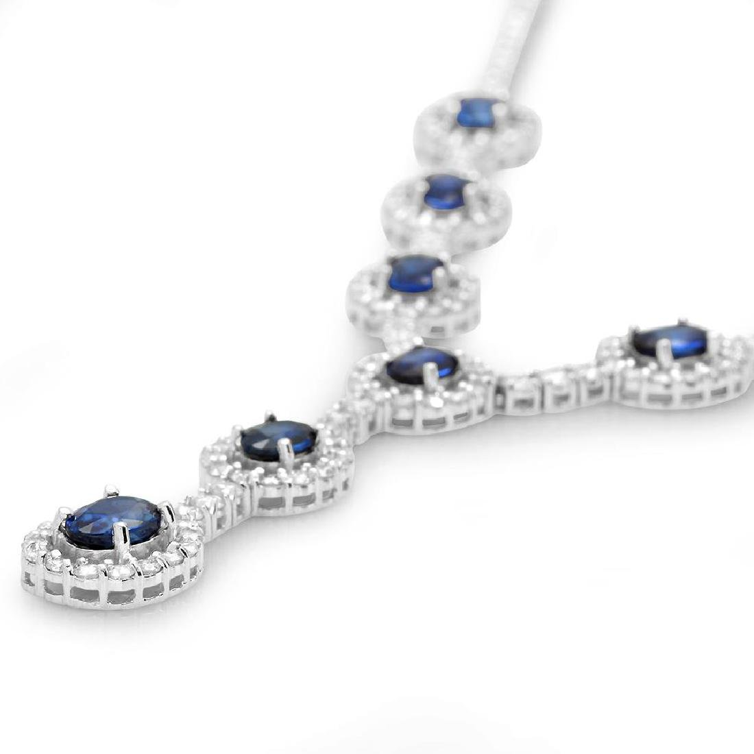 14K Gold 5.02ct Sapphire 5.67cts Diamond Necklace - 2