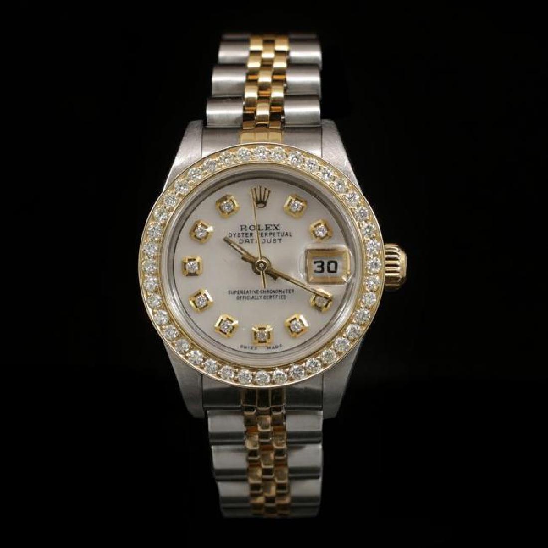 Rolex DateJust Two-Tone 26mm Custom Diamond Bezel
