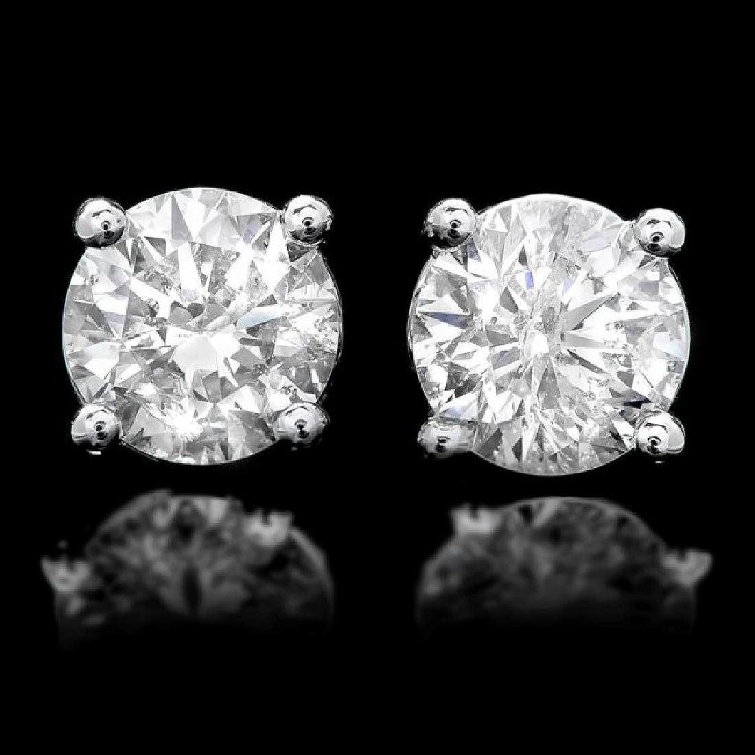 14k White Gold 1.60ct Diamond Earrings