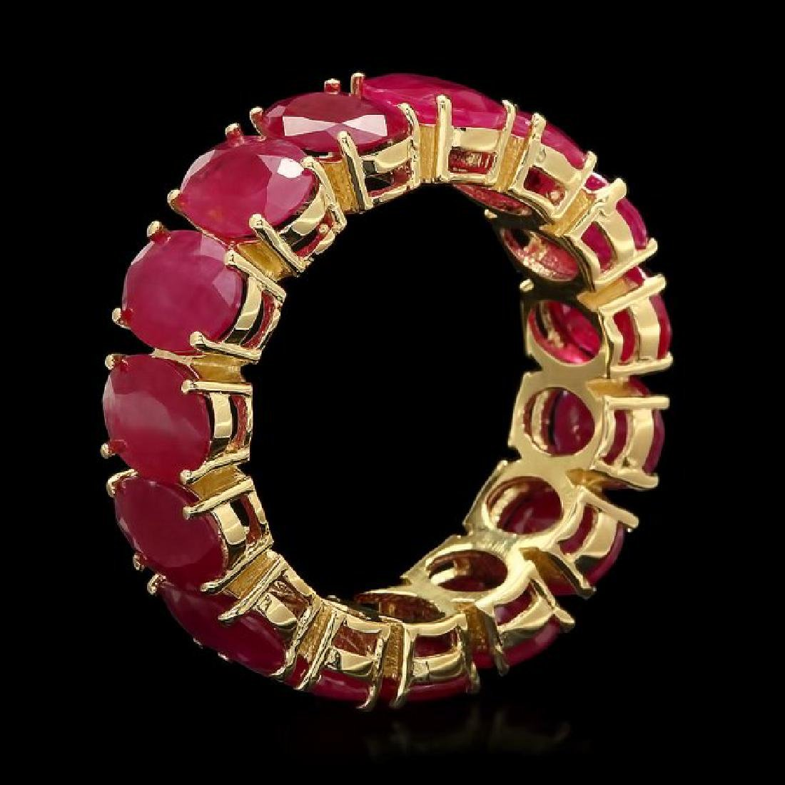 14k Yellow Gold 13.30ct Ruby Ring - 2