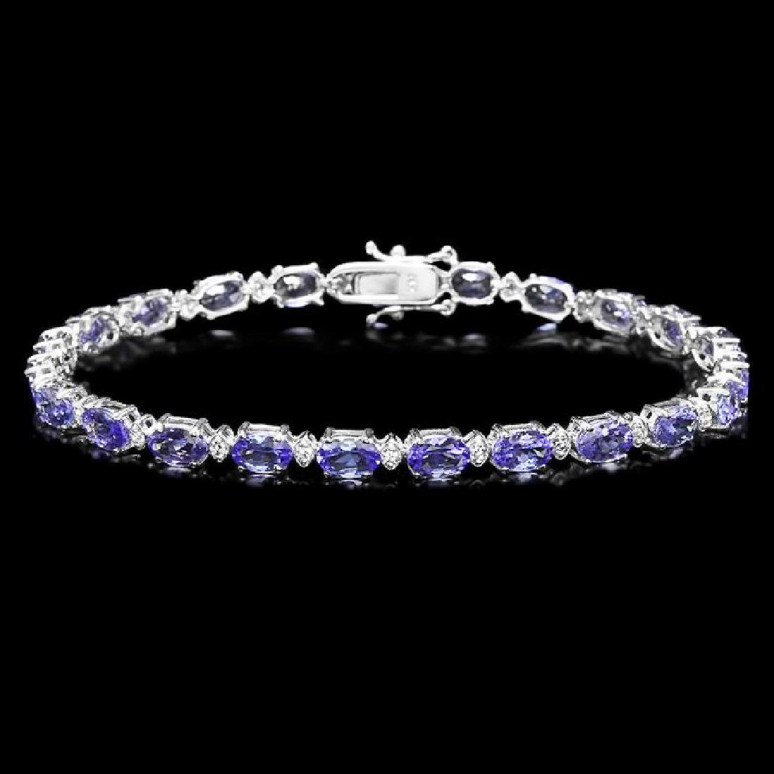 14k Gold 10ct Tanzanite 0.60ct Diamond Bracelet