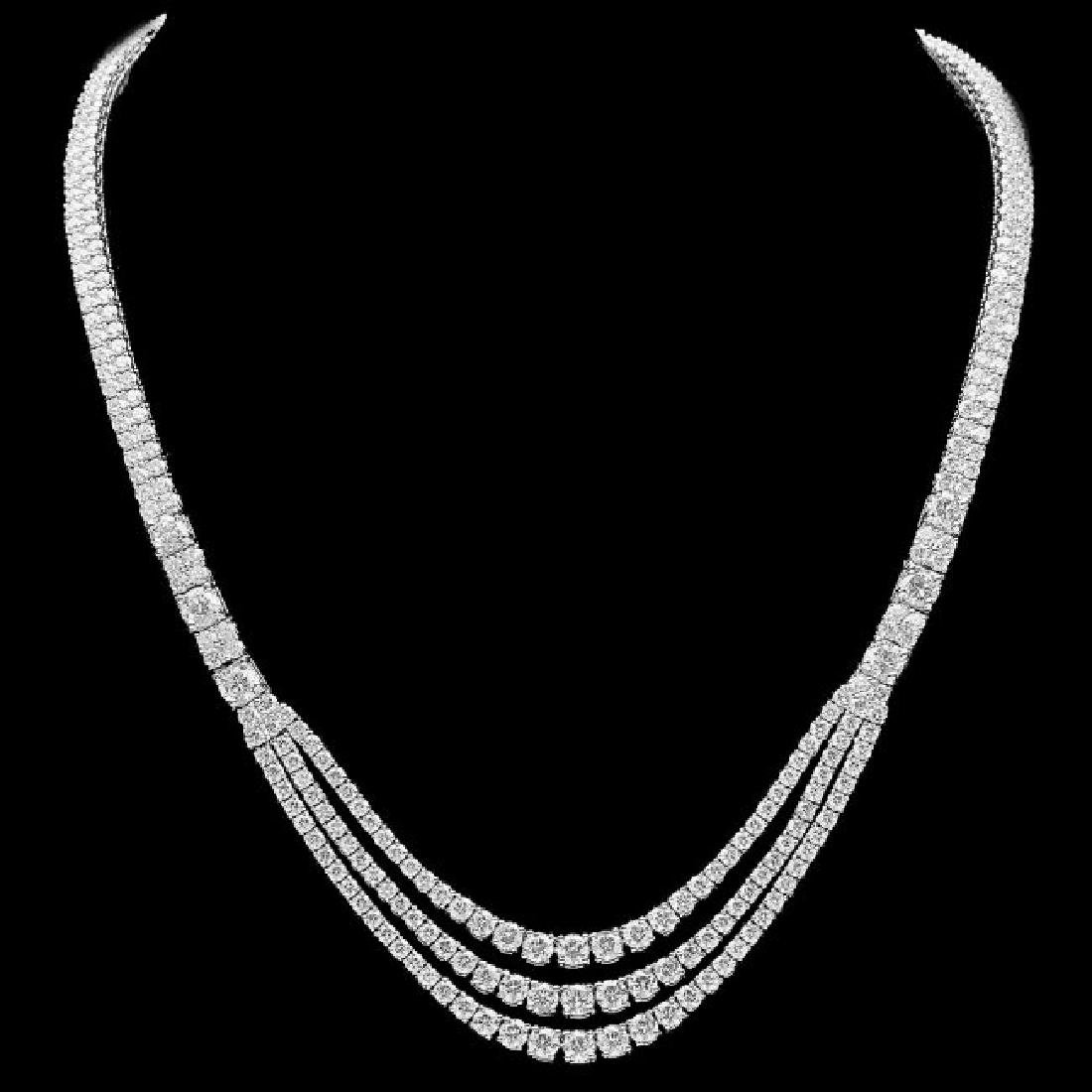 18k White Gold 23.10ct Diamond Necklace