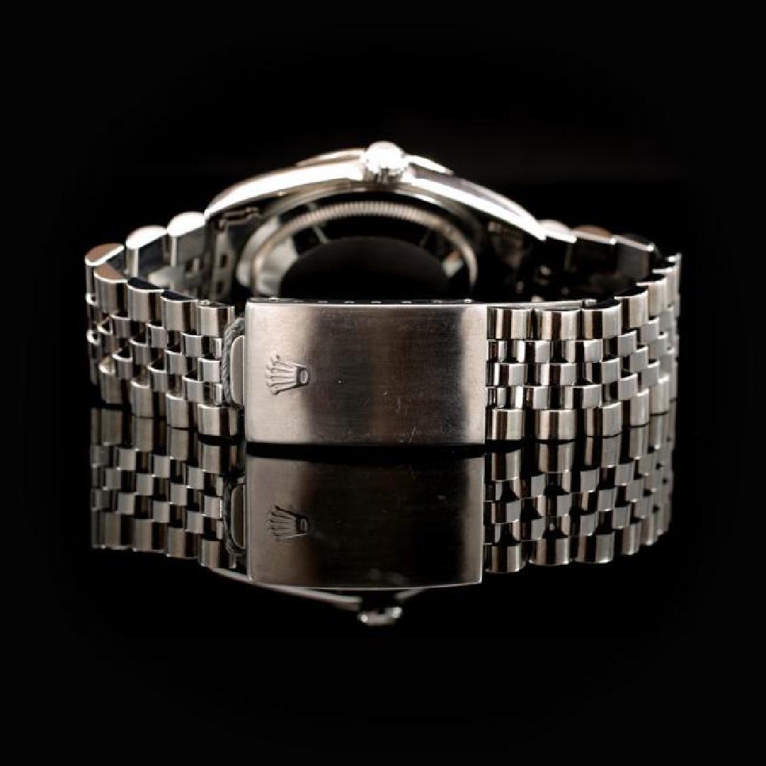Rolex DateJust SS 36mm Custom Diamond Bezel Men's - 3