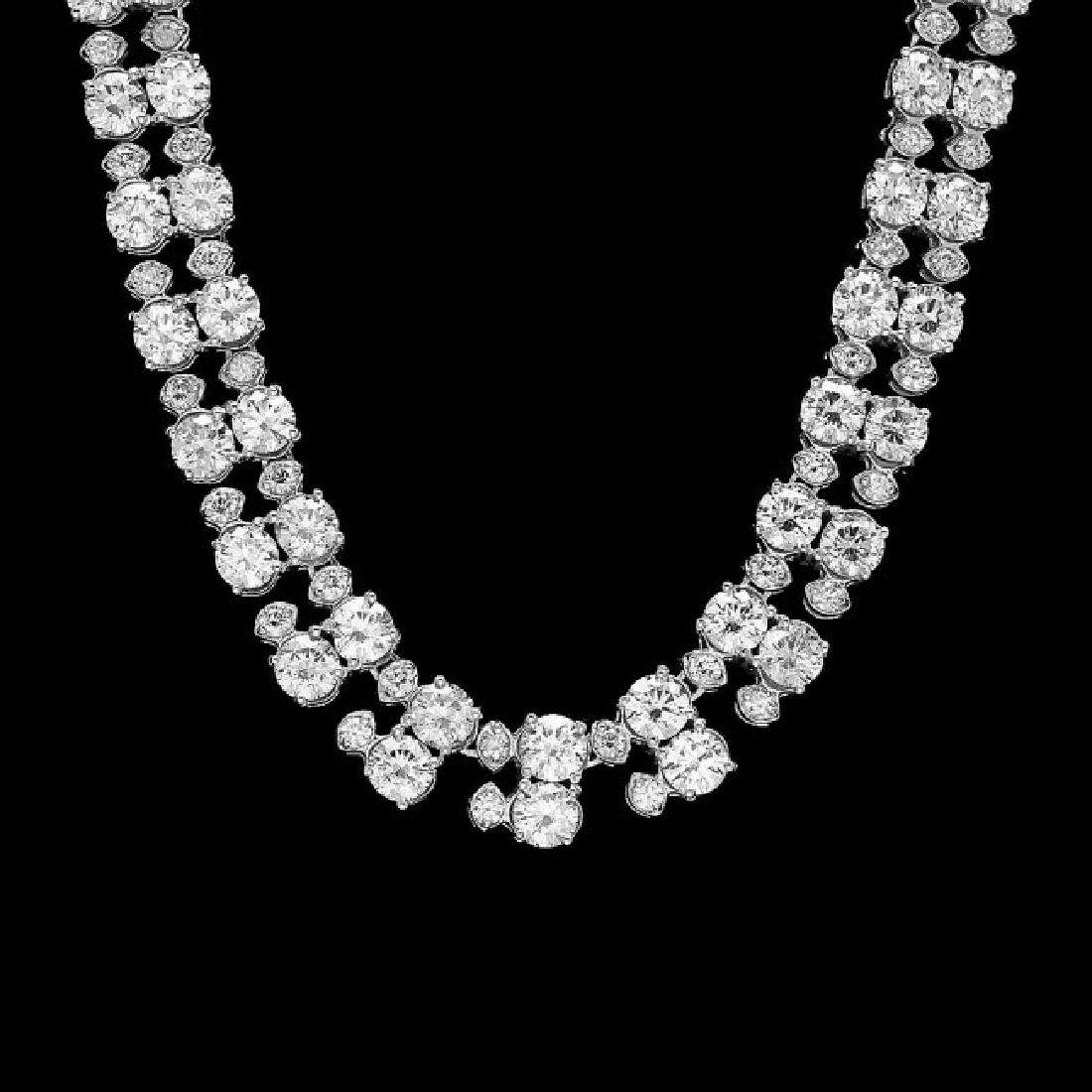 18k White Gold 24ct Diamond Necklace