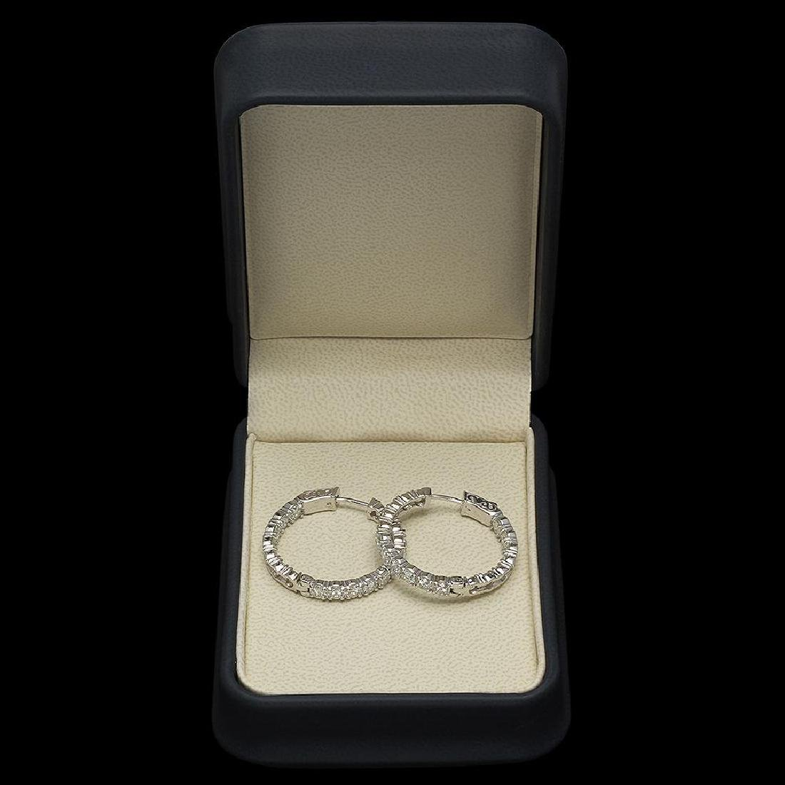 14K Gold 6.25ct Diamond Earrings - 2