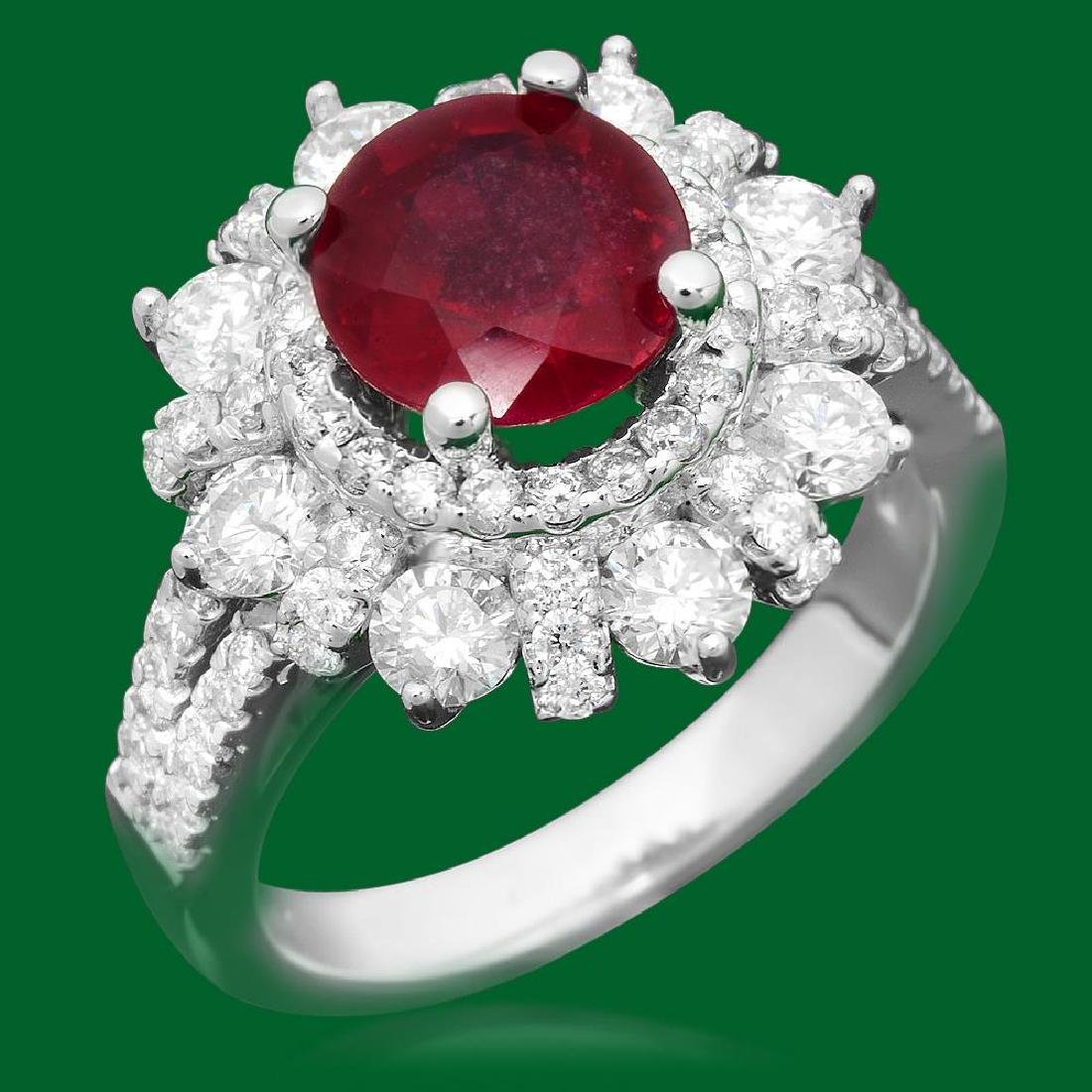 14k Gold 2.52ct Ruby 1.90ct Diamond Ring