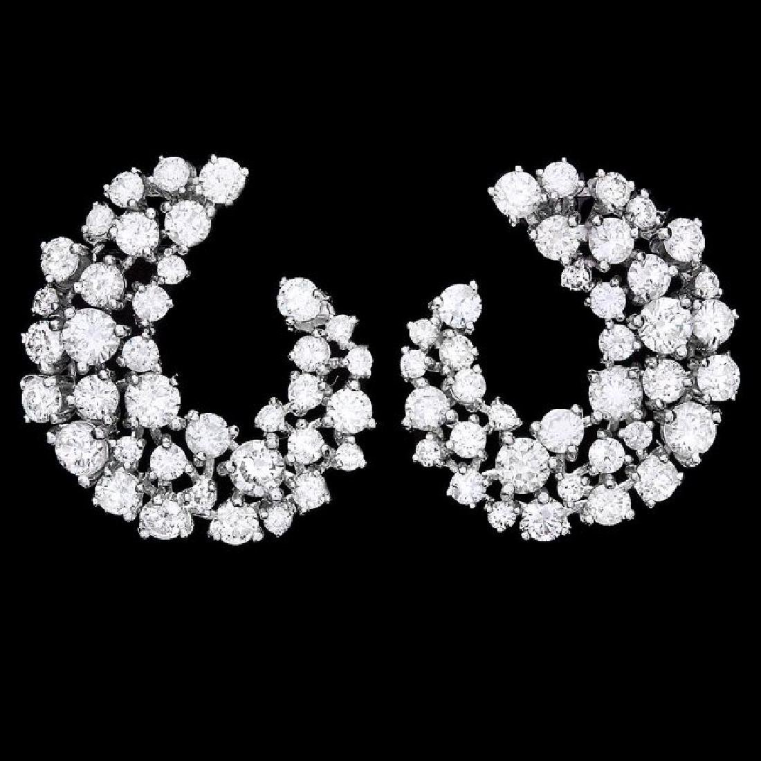 14k White Gold 4.40ct Diamond Earrings