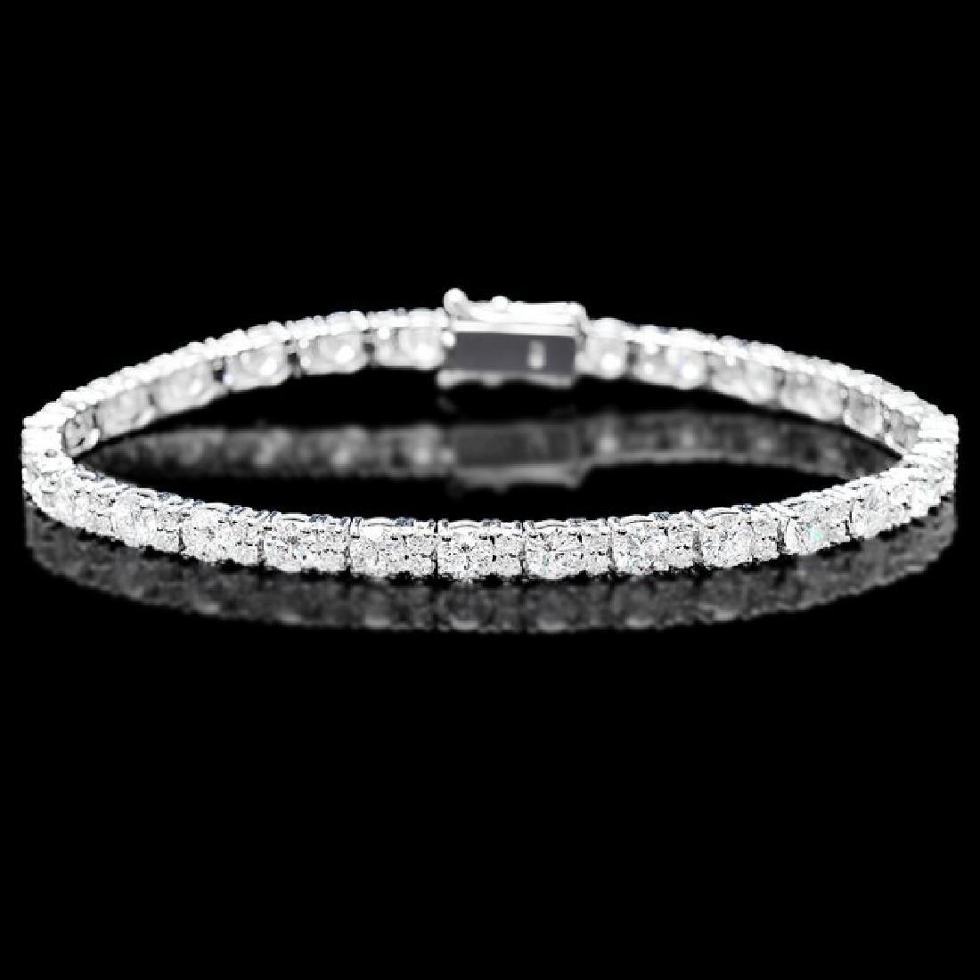 18k White Gold 8.70ct Diamond Bracelet