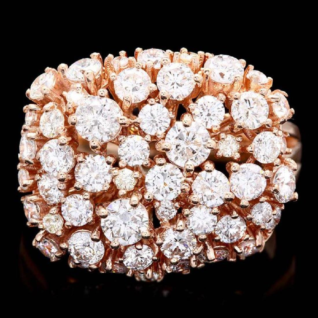 14k Rose Gold 2.75ct Diamond Ring