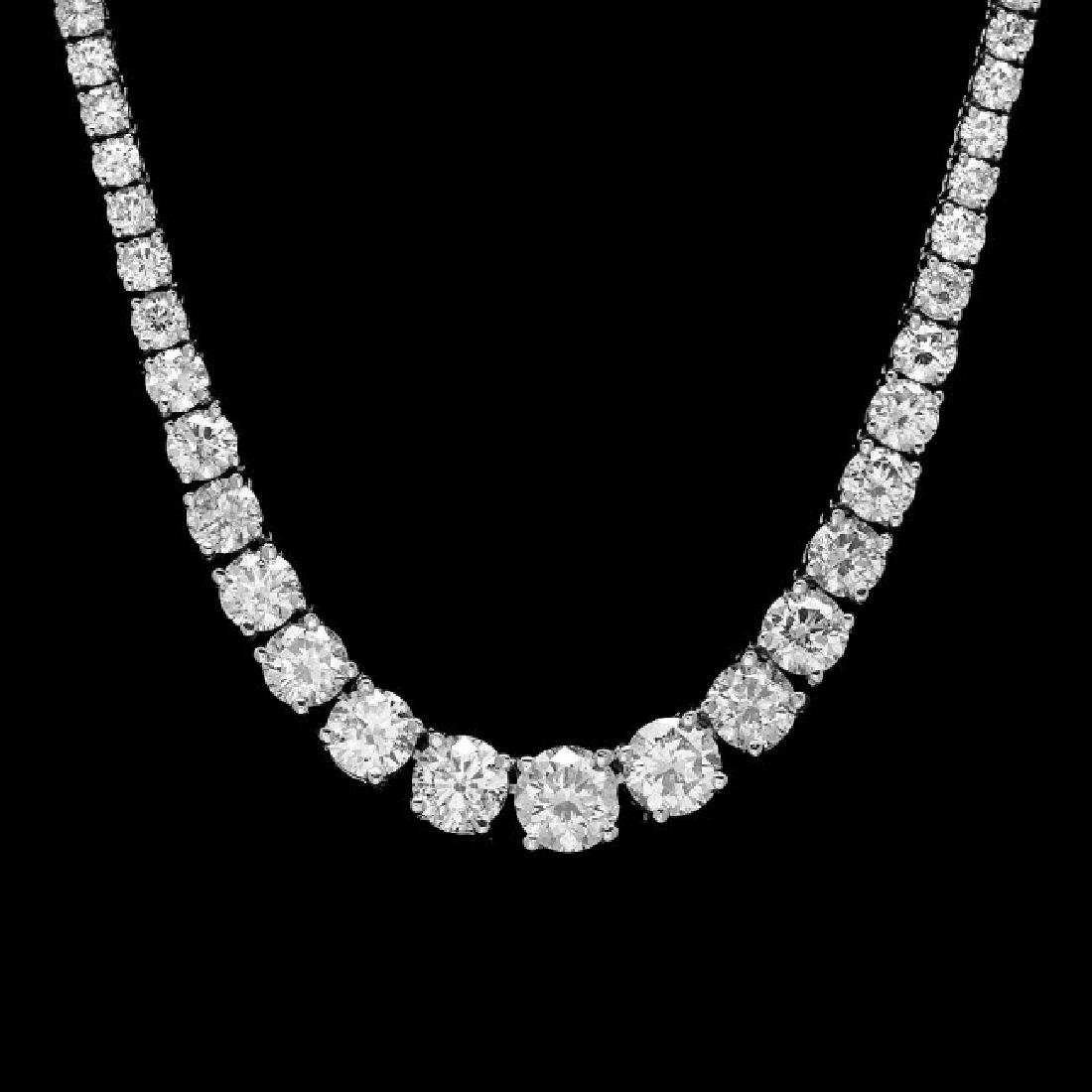 18k White Gold 11.50ct Diamond Necklace