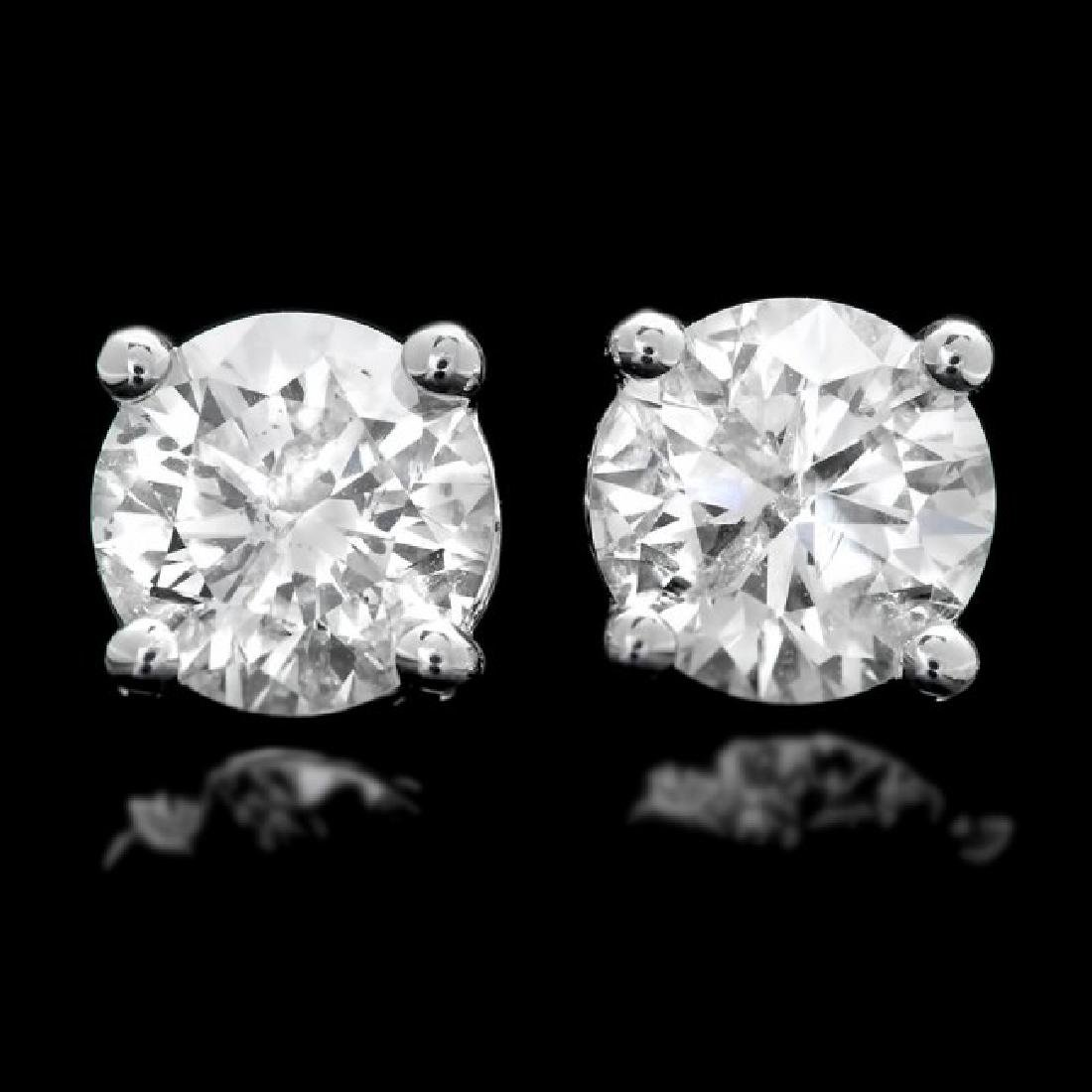 14k White Gold 1.20ct Diamond Earrings