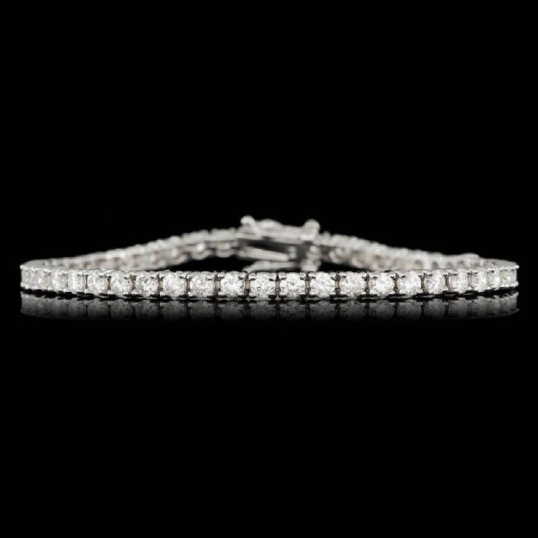 14k White Gold 4.80ct Diamond Bracelet