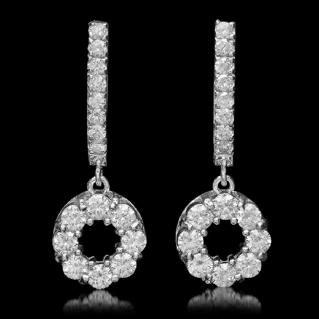 14K Gold 1.78ct Diamond Earrings