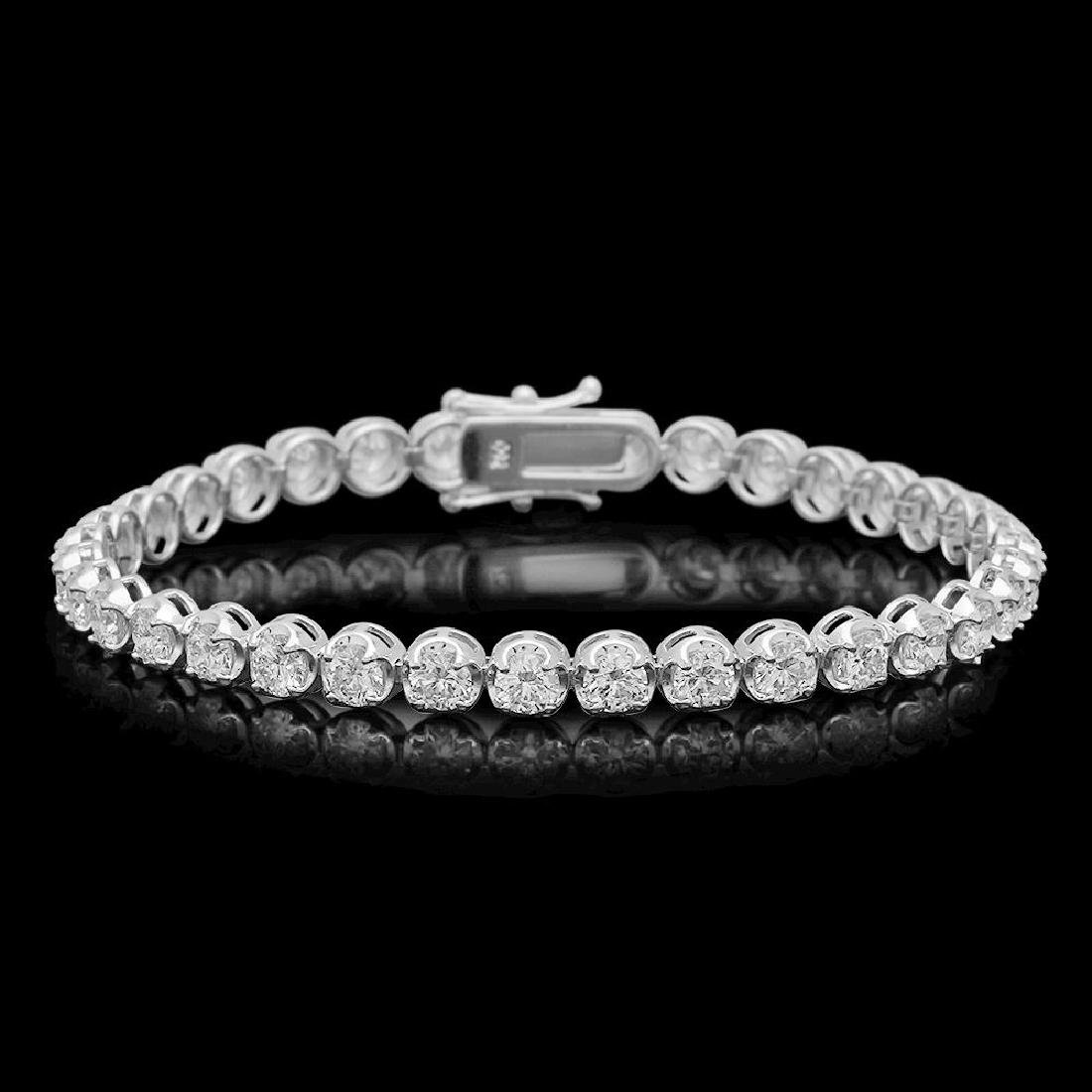 18K Gold 7.01ct Diamond Bracelet