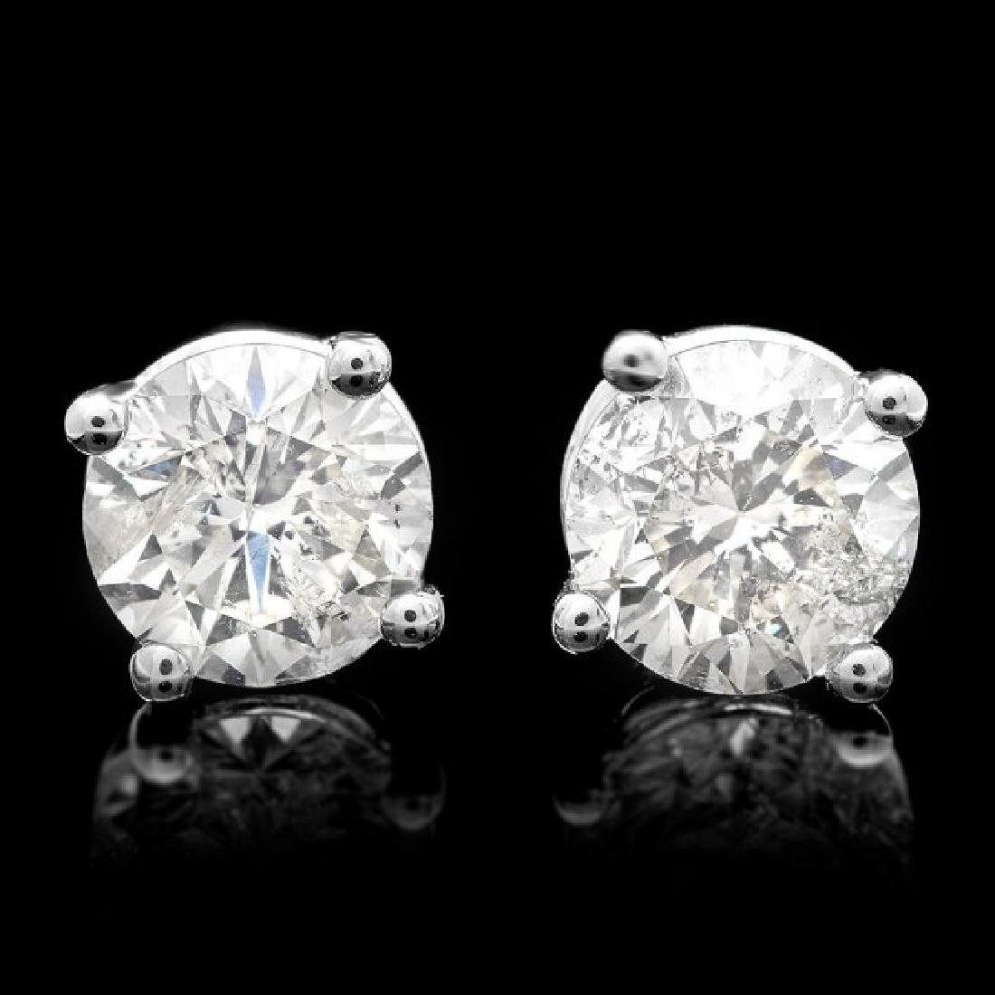 14k White Gold 1.70ct Diamond Earrings