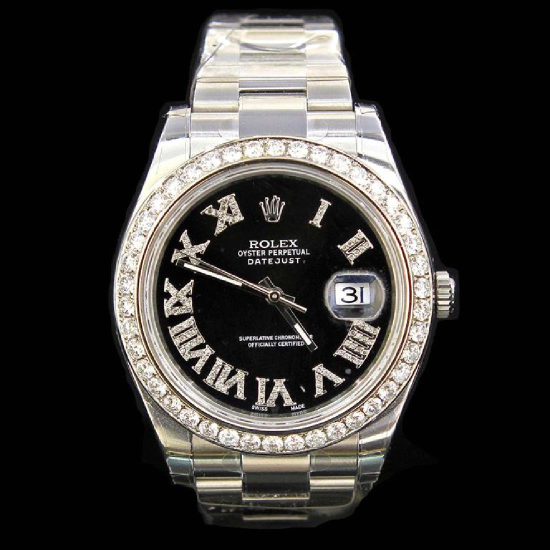 Rolex DateJust ll 41mm aprox. 4.5 cts. Diamond Bezel