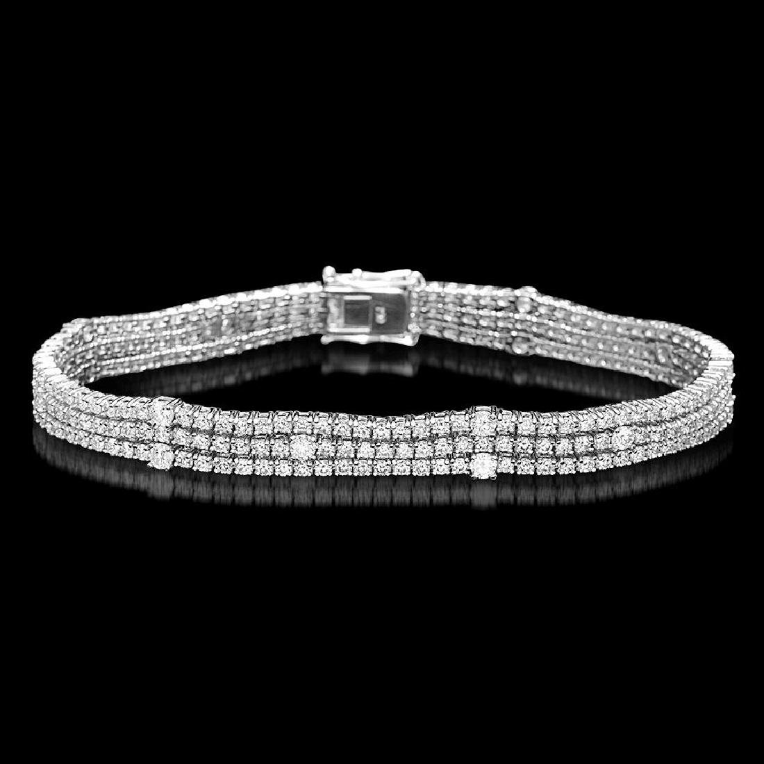 18K Gold 5.96ct Diamond Bracelet