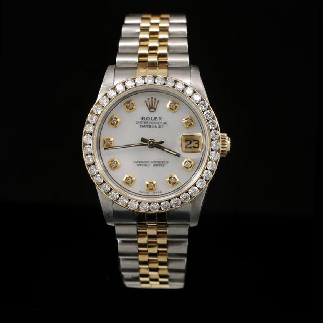 Rolex DateJust Two-Tone 31mm Custom Diamond Bezel