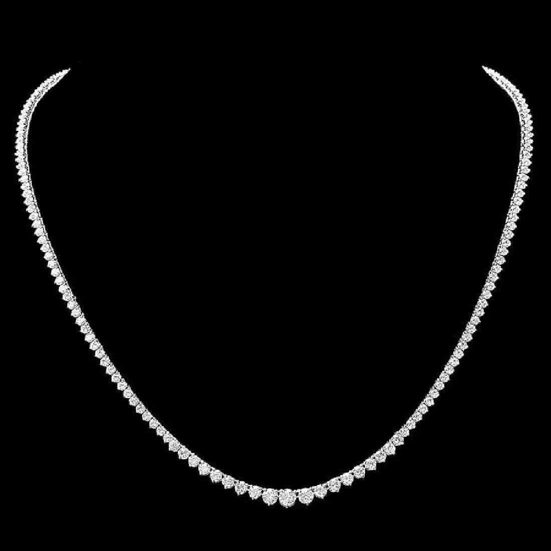 18k White Gold 8.50ct Diamond Necklace