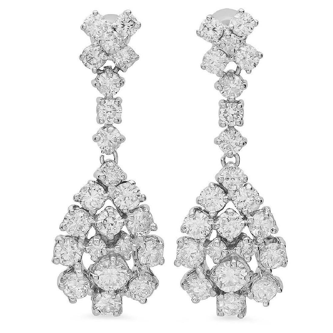 14K Gold 3.00ct Diamond Earrings