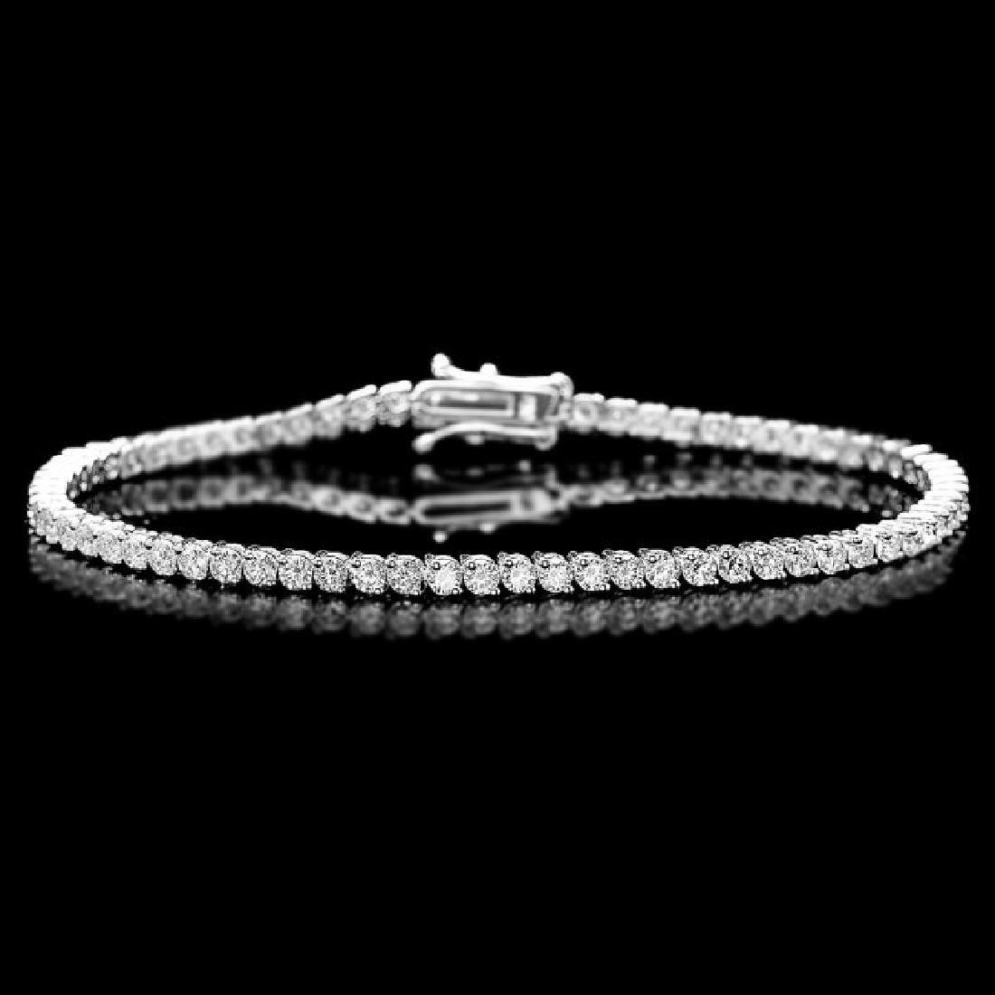 18k White Gold 3.65ct Diamond Bracelet