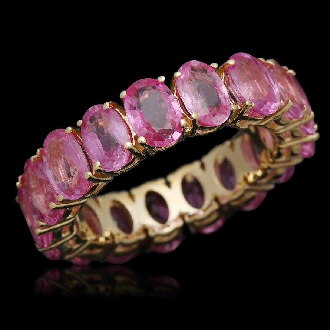 14K Gold 10.28ct Pink Sapphire Ring