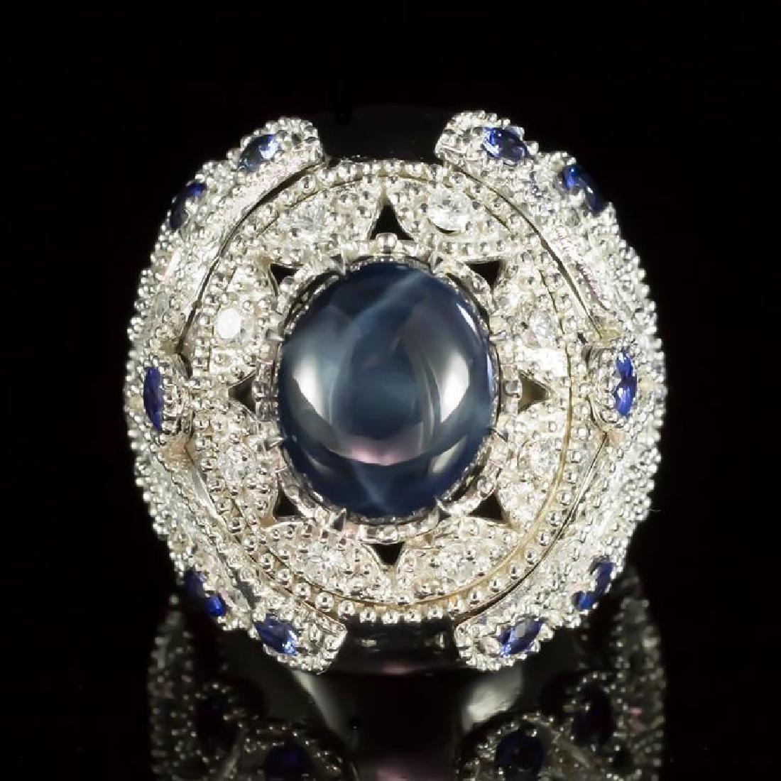 14K Gold 11.61ct Star Sapphire, 1.38ct Sapphire 1.55ct