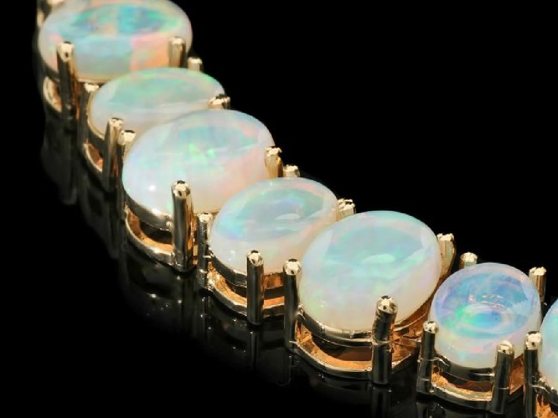 14k Yellow Gold 50.00ct Opal Necklace - 2