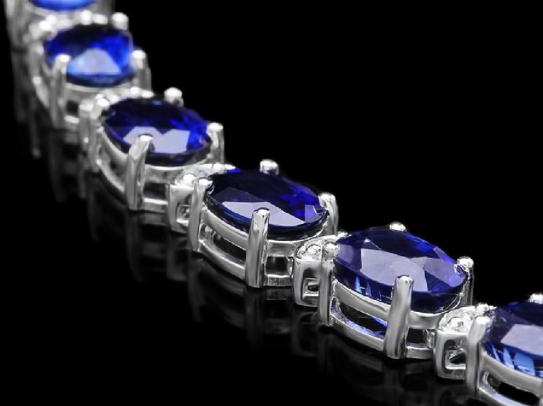 18k Gold 40.00ct Sapphire 1.90ct Diamond Necklace - 2