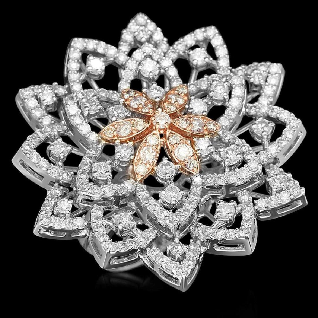 18K Gold 3.52ct Diamond Ring