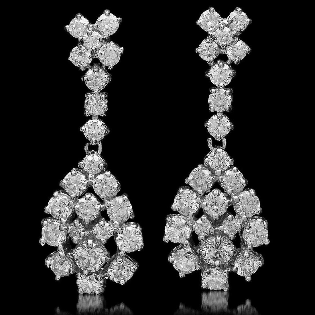 14K Gold 2.97ct Diamond Earrings