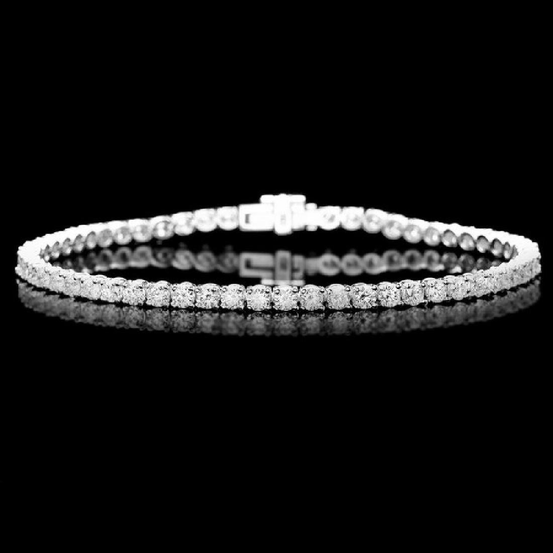 18k White Gold 5.00ct Diamond Bracelet