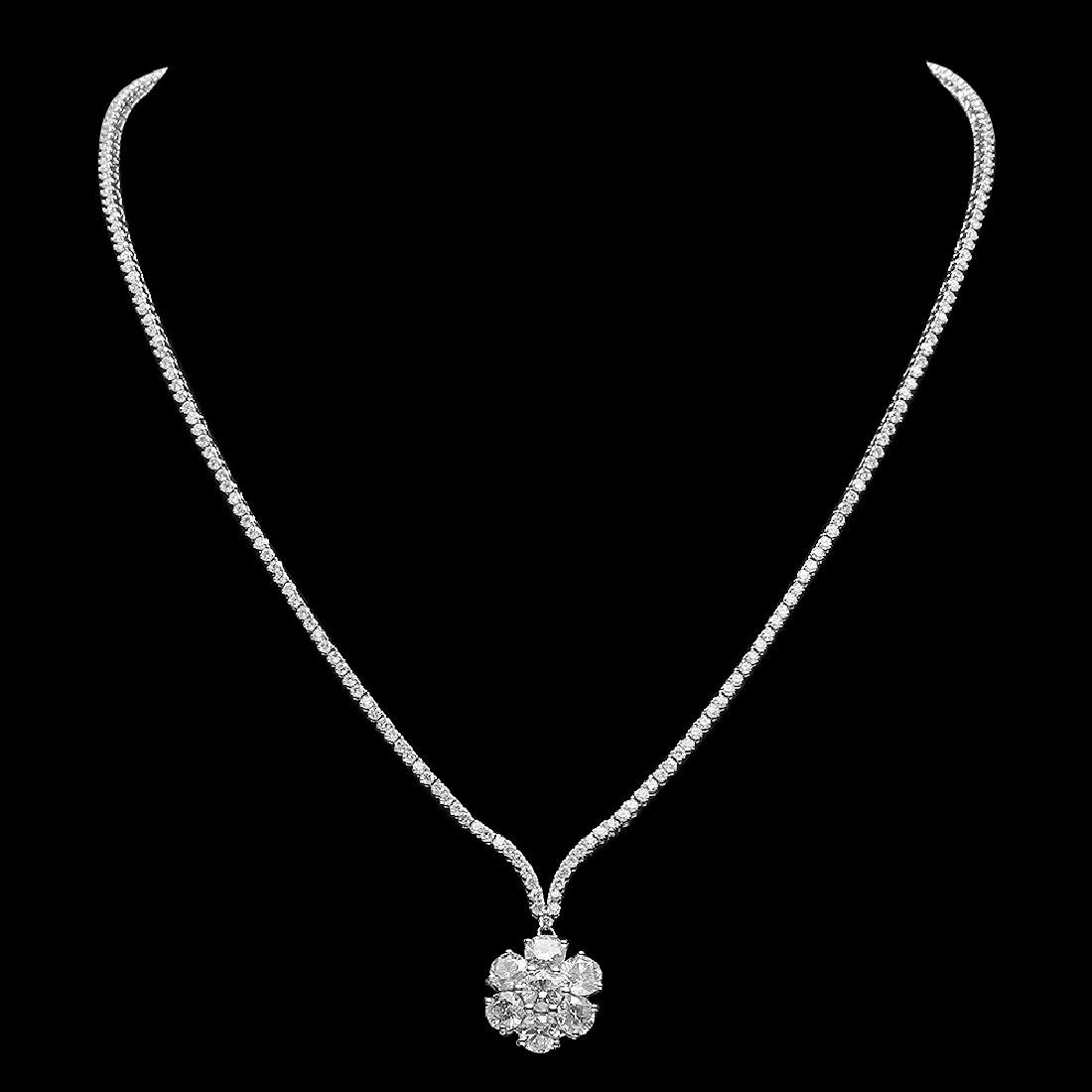 18K Gold 8.75ct Diamond Necklace