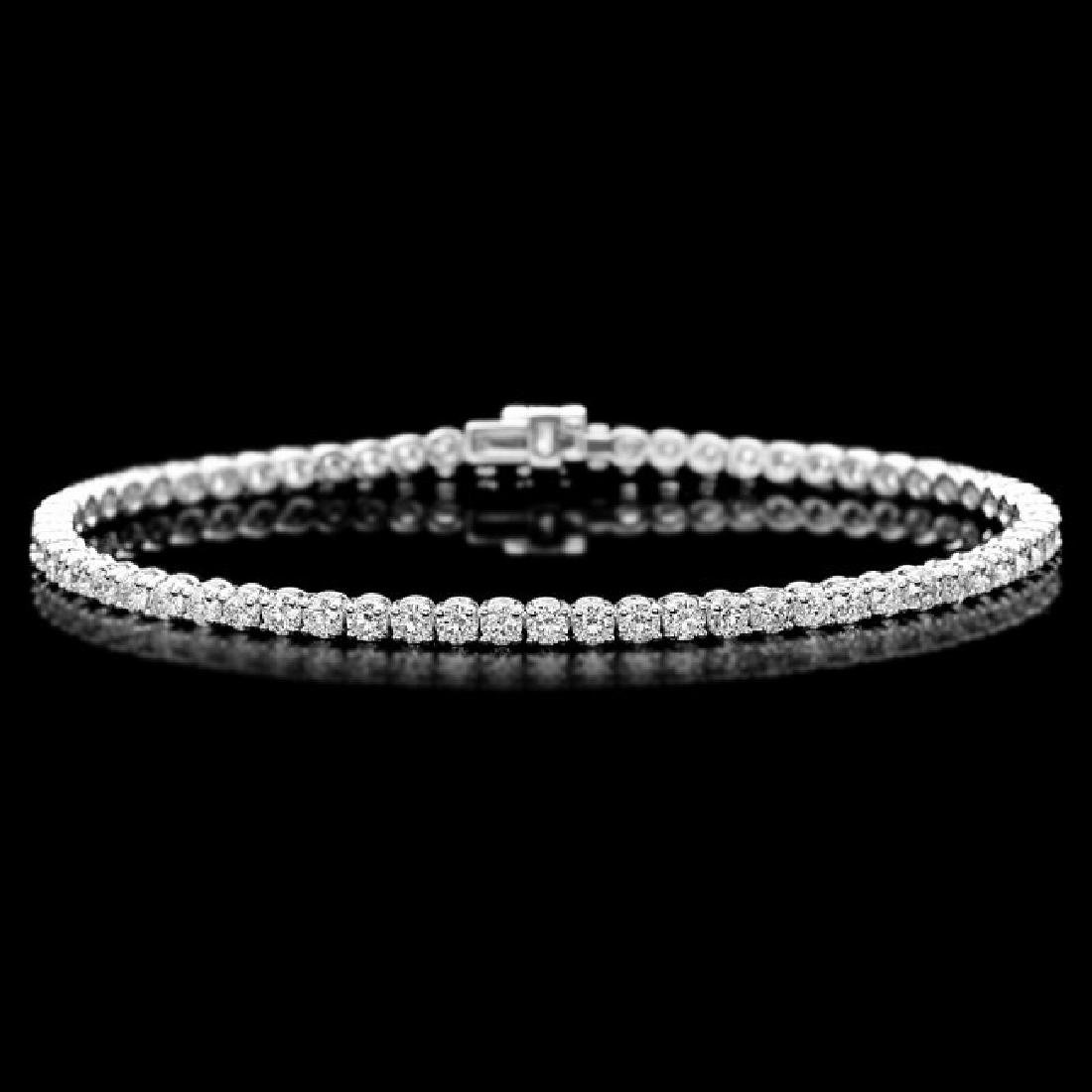 18k White Gold 4.50ct Diamond Bracelet