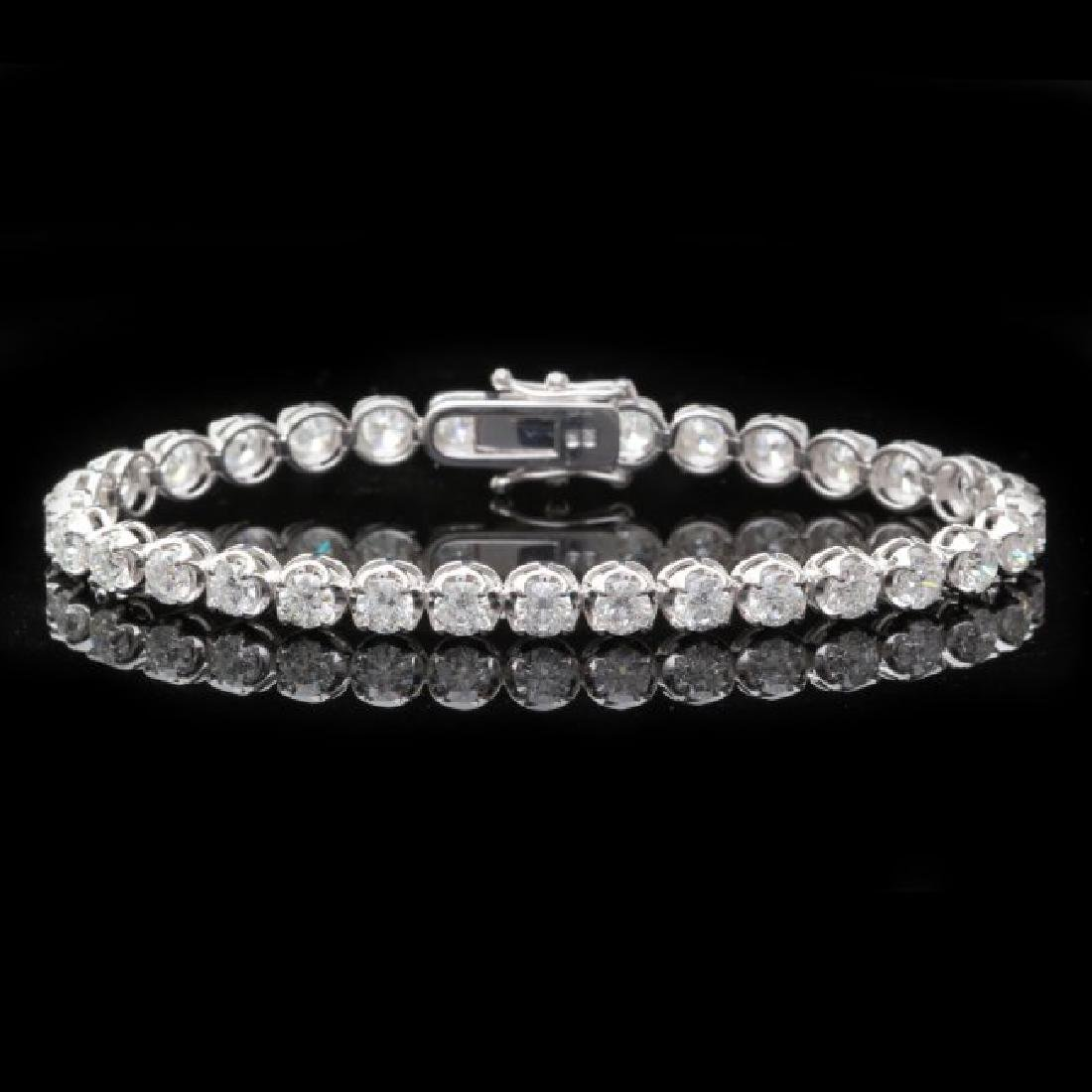 18k White Gold 8.50ct Diamond Bracelet
