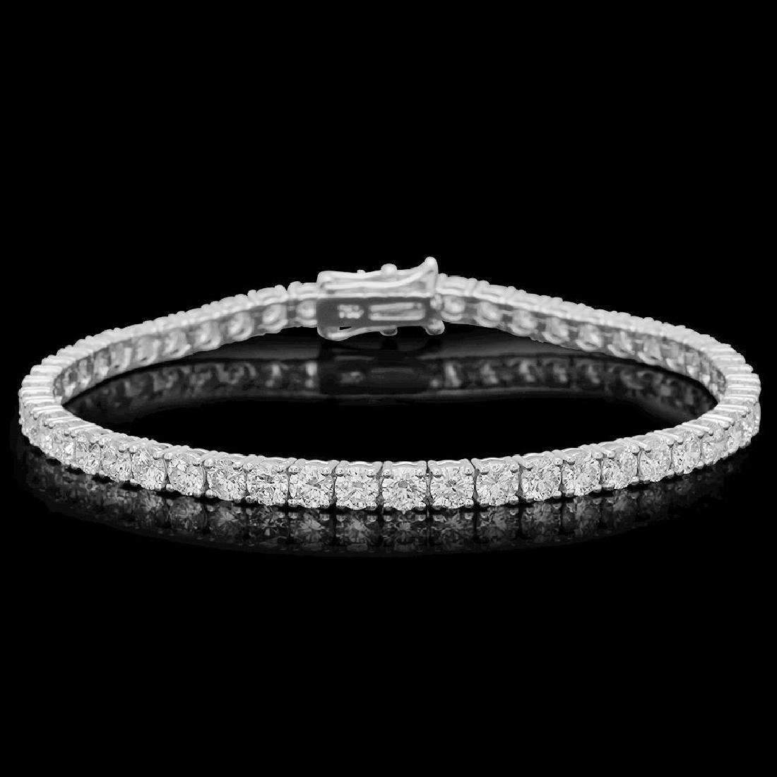 18K Gold 7.82ct Diamond Bracelet