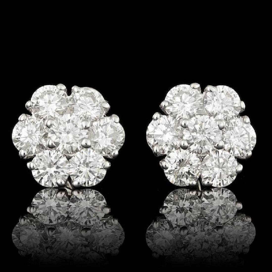 14k White Gold 2.25ct Diamond Earrings