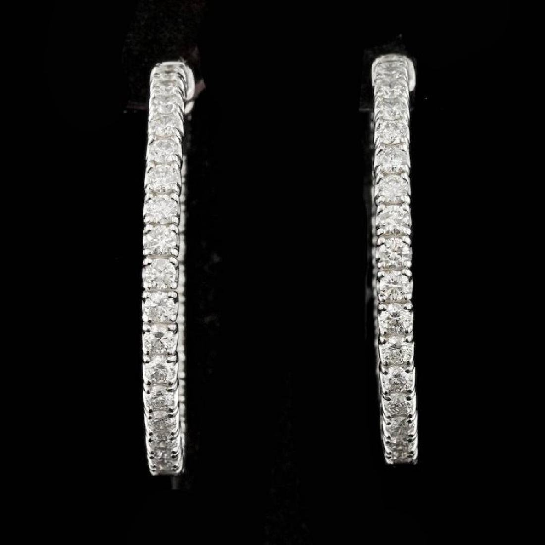 14k White Gold 4.50ct Diamond Earrings