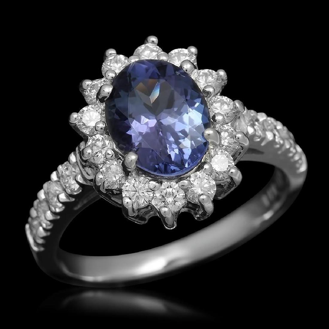 14K Gold 1.80ct Tanzanite 0.79ct Diamond Ring