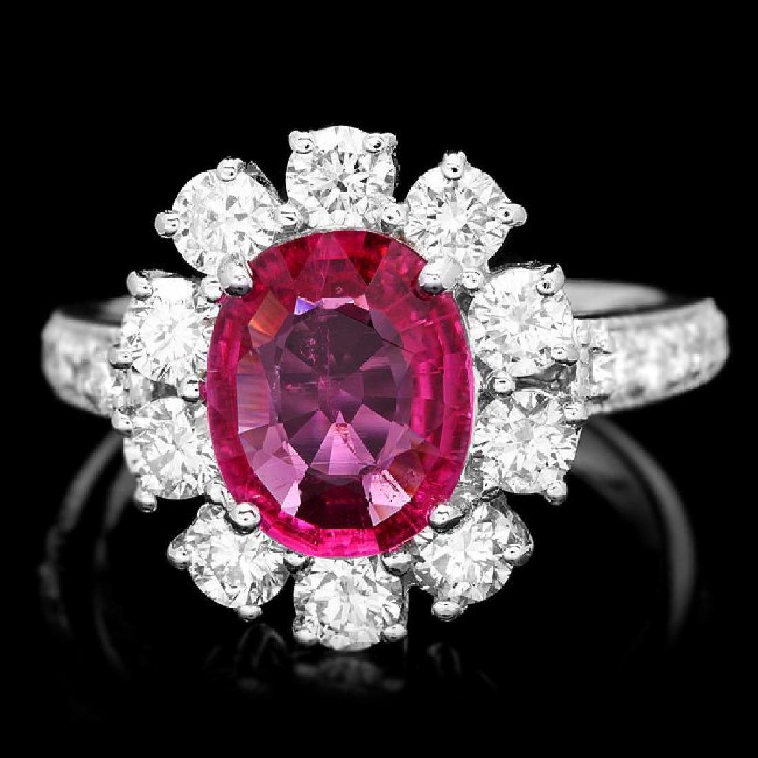 14k Gold 1.50ct Tourmaline 1.55ct Diamond Ring