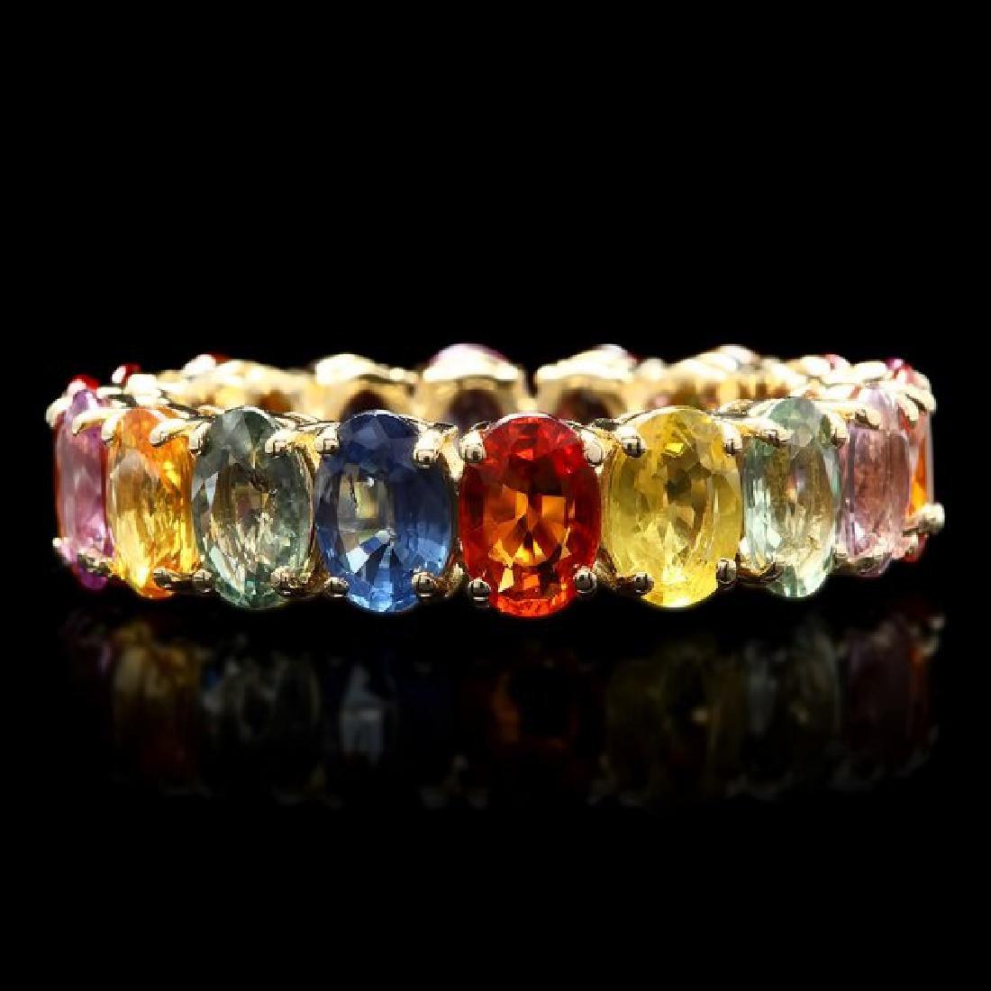 14k Yellow Gold 9.00ct Sapphire Ring