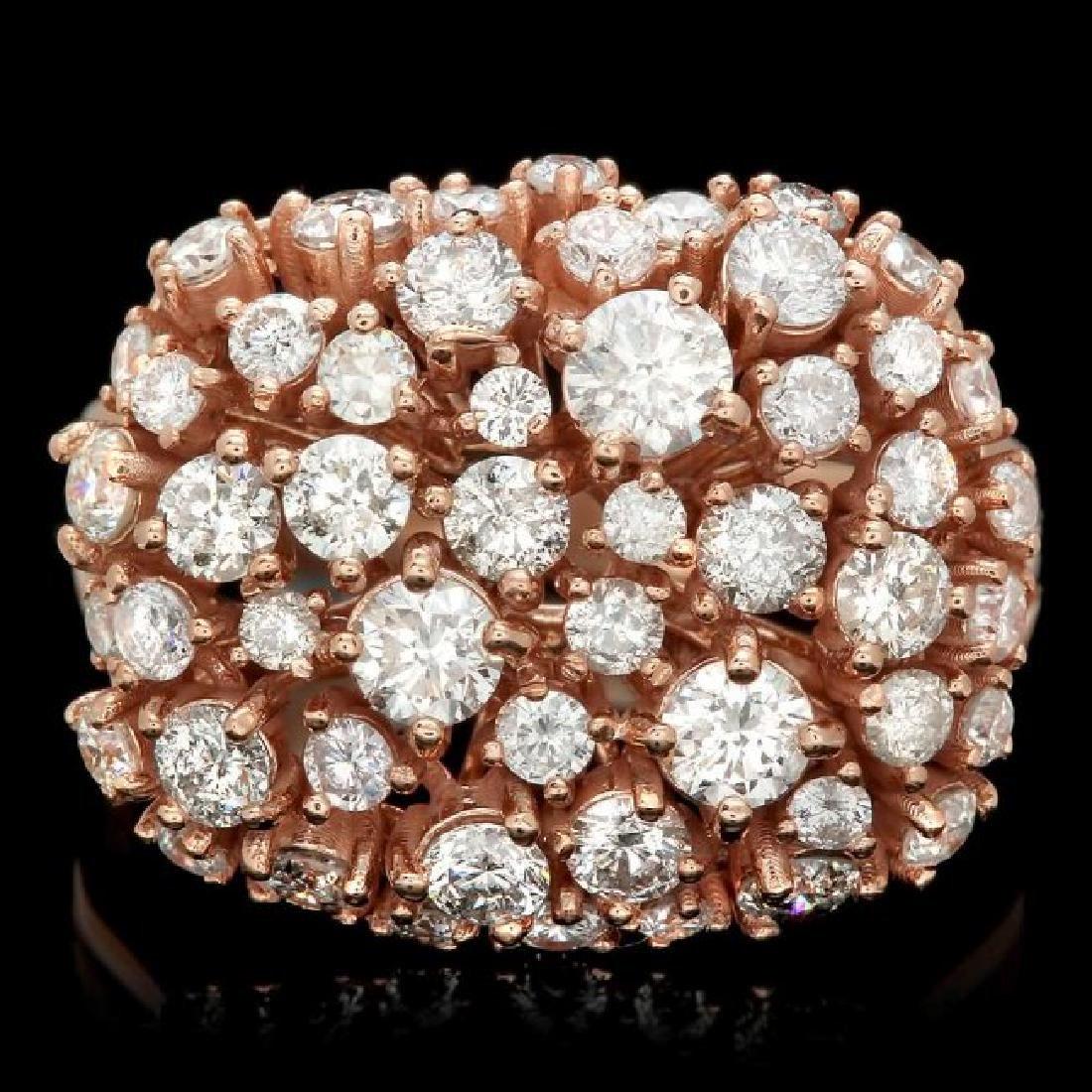 14k Rose Gold 2.25ct Diamond Ring